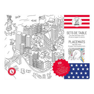 OMY United States Coloring Placemats