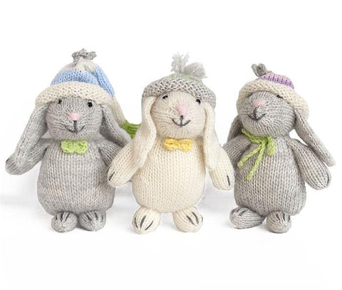 Mini Easter Bunnies in Beanies