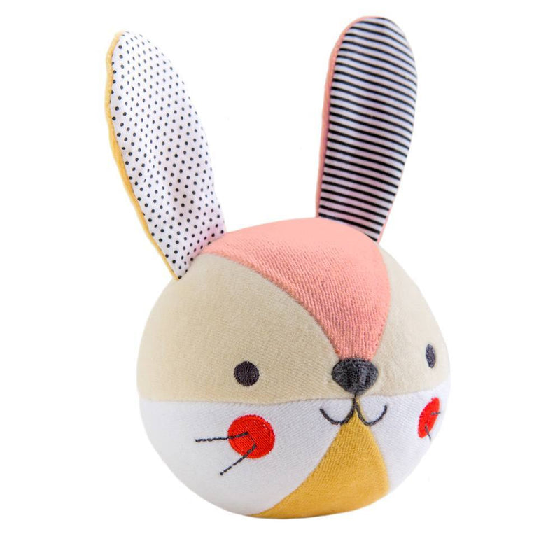 Petit Collage Cotton Bunny Chime Ball