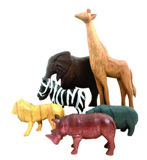 Papoose Wooden African Animals