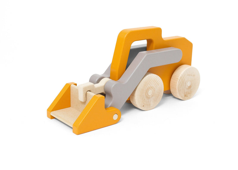Rob's Orange Loader Truck Push Toy