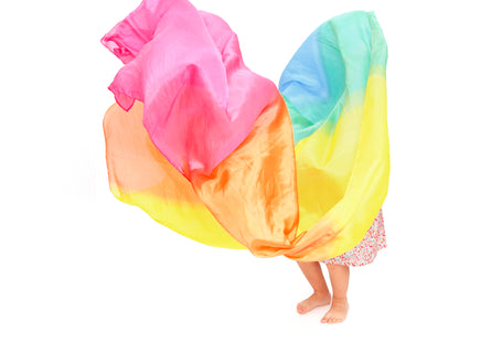 Sarah's Silks Rainbow Enchanted Play Silk