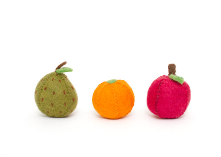 Papoose Felt Apple, Pear & Orange Set