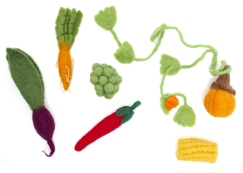 Papoose Felt 6-piece Veggie Box Set