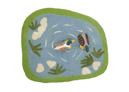 Papoose Duck Pond Felt Play Mat with Ducks