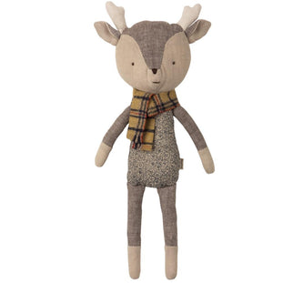 Maileg Winter Friends Reindeer in Striped Scarf