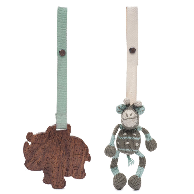Ami & Kenya Eco Stroller Toy Set