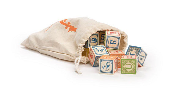 Uncle Goose Classic ABC Blocks in Canvas Bag