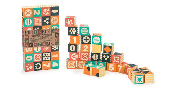Uncle Goose Groovie Math & Patterning Blocks