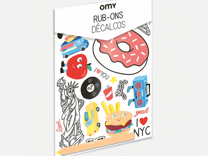 Omy New York City Rub-On Decals