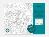 Omy Animal Coloring Placemats