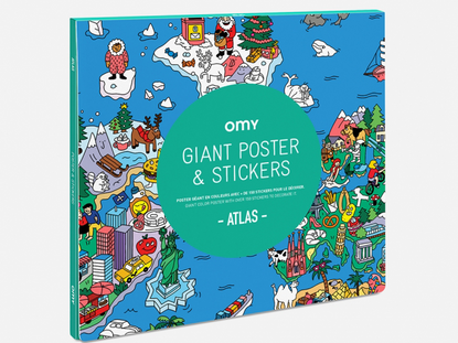 Omy Atlas Giant Poster & Sticker Set