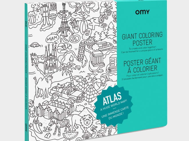 Atlas Coloring Poster