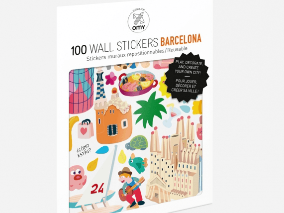 Omy Barcelona Removable Stickers