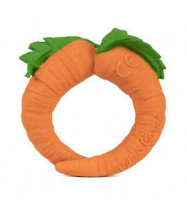 Oli & Carol Carrot Bath Toy & Teether
