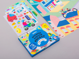 Omy Small City Sticker Pocket Set