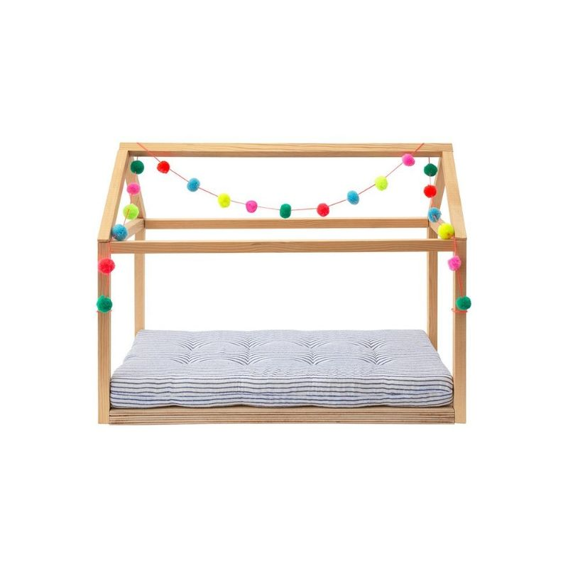 Meri Meri Wooden Doll Bed with Pom Poms