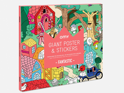 Omy Fantasy Poster & Sticker Set