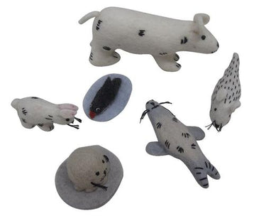 Papoose Felt Arctic Animal Set