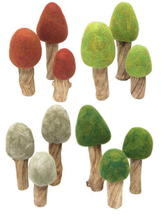 Felt Trees Four Seasons Set