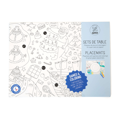OMY Games Coloring Placemats
