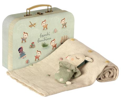 Maileg Baby Bambi Gift Set in Mint