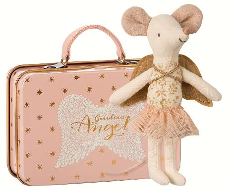 Maileg Guardian Angel Big Sister Mouse in Suitcase