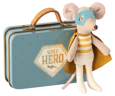 Maileg Guardian Hero Mouse in Suitcase