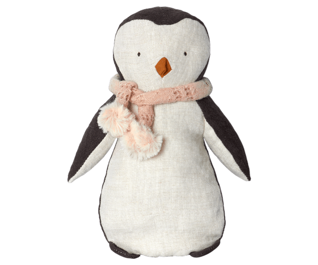 Penguin in Pink Scarf