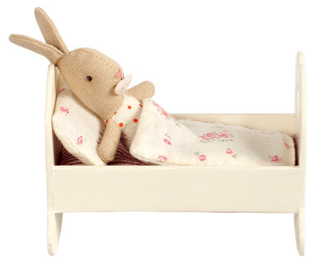 White Baby Cradle with Bedding