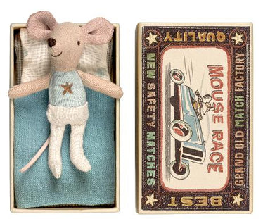 Maileg Little Brother Mouse in Matchbox with Star