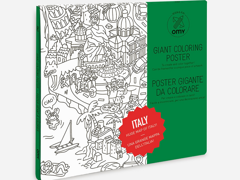 Omy Italy Coloring Poster – Rose & Rex