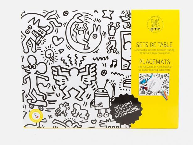 Keith Haring Coloring Placemats
