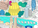 XXL London Coloring Poster