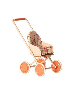 Maileg Micro Stroller in Coral