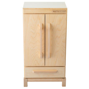 Milton & Goose Natural Wood Refrigerator
