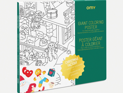 Omy Santa's Workshop Coloring Poster
