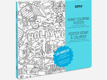 Los Angeles Coloring Poster