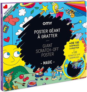 Omy Magic Scratch Off Poster