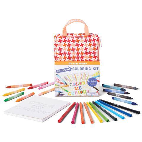 Kid Made Modern On-The-Go Coloring Kit