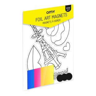Omy Paris Foil Art Magnets