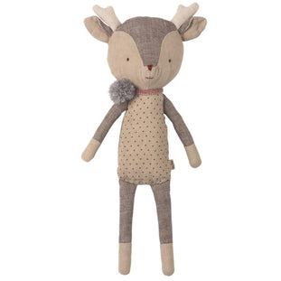 Maileg Winter Friends Reindeer in Pom Scarf
