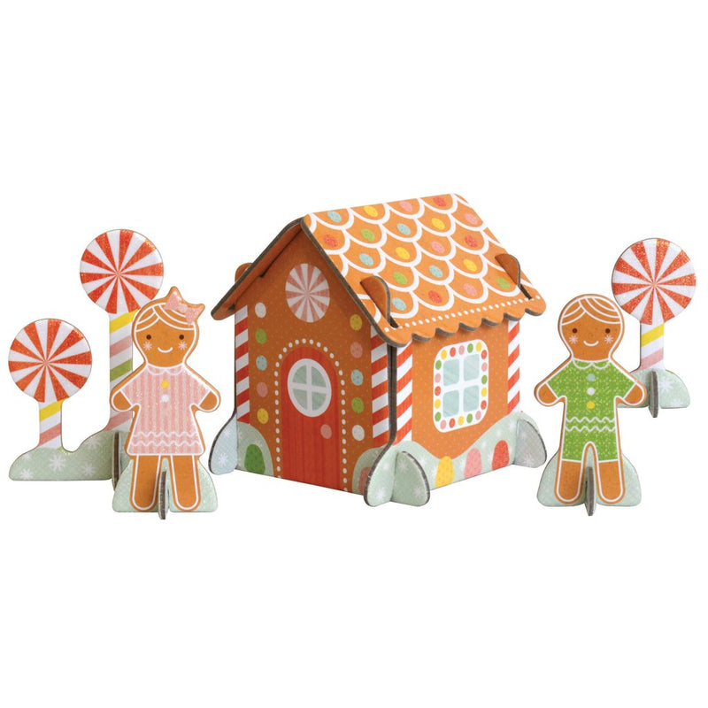 Petit Collage Gingerbread House Pop-Out and Build Playset