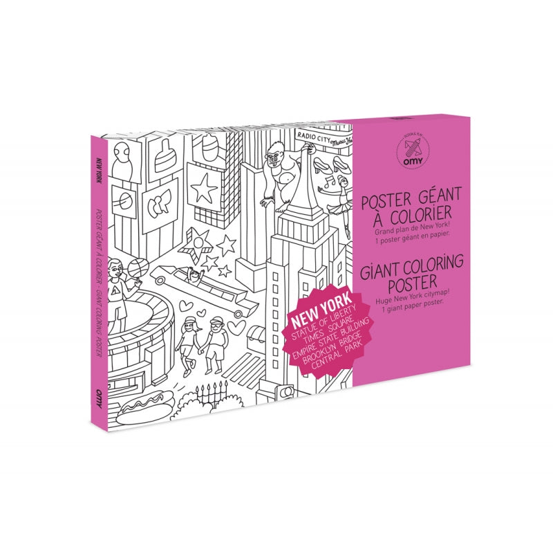 Omy New York Coloring Poster – Rose & Rex