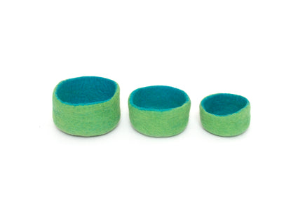 Papoose Blue & Green Nesting Bowls