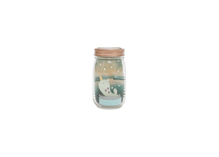 Narwhal Mason Jar Solar Nightlight