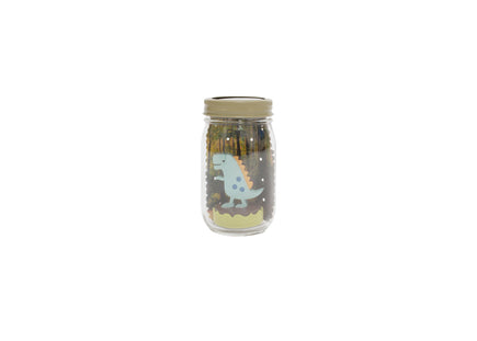 Dinosaur Mason Jar Solar Nightlight