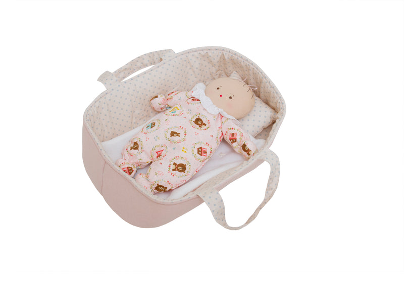 Alimrose Baby Doll Carrier Set in Pale Pink & Spot
