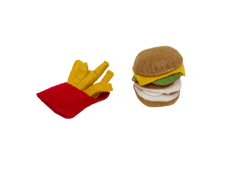 Papoose Felt Burger & Fries