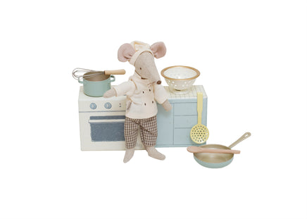 Maileg Cooking Set & Chef Mouse Custom Bundle
